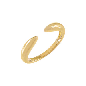 14K Gold / 7 Solid Claw Ring 14K - Adina's Jewels