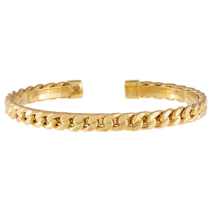 14K Gold Cuban Chain Bangle 14K - Adina's Jewels
