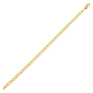"14K Gold / 6.75"" Super Hollow Miami Curb Bracelet 14K - Adina's Jewels"