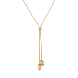 14K Gold Box Chain Charms Lariat 14K - Adina's Jewels
