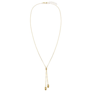 Box Chain Charms Lariat 14K - Adina's Jewels