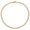 "14K Gold / 9"" Diamond Clasp Cuban Chain Anklet 14K - Adina's Jewels"