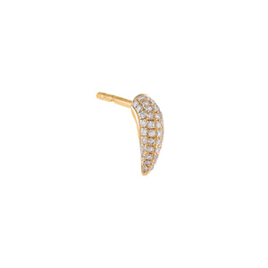 14K Gold / Single Diamond Claw Stud Earring 14K - Adina's Jewels