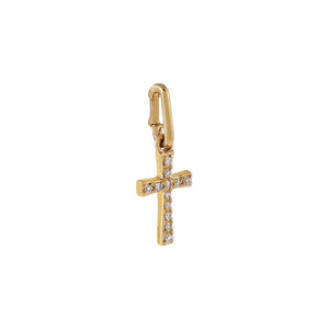 Diamond Cross Charm 14K - Adina's Jewels