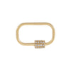 14K Gold Diamond Mini Toggle Charm 14K - Adina's Jewels