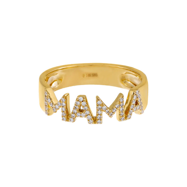 Diamond Mama Ring 14K - Adina's Jewels