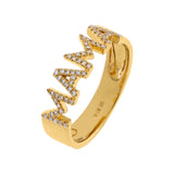 14K Gold / 6.5 Diamond Mama Ring 14K - Adina's Jewels