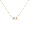 14K Gold Diamond Mrs. Necklace 14K - Adina's Jewels