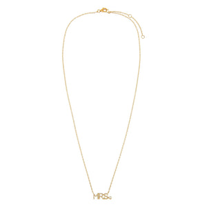 Diamond Mrs. Necklace 14K - Adina's Jewels