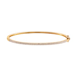 14K Gold Diamond Double Pavé Bangle 14K - Adina's Jewels