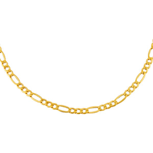 "14K Gold / 16"" Super Hollow Figaro Necklace 14K - Adina's Jewels"