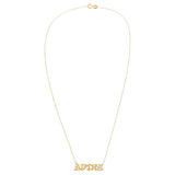 Graffiti Nameplate Necklace 14K - Adina's Jewels