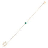 Emerald Green Diamond X Emerald Green Disc Bracelet 14K - Adina's Jewels