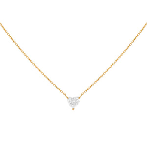 14K Gold Diamond Tiny Heart Necklace 14K - Adina's Jewels