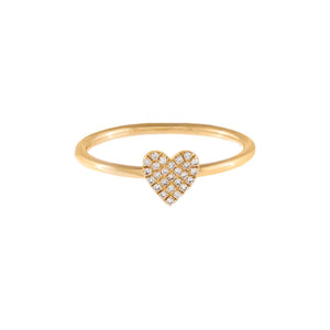 Diamond Mini Heart Ring 14K - Adina's Jewels