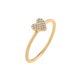14K Gold / 6 Diamond Mini Heart Ring 14K - Adina's Jewels