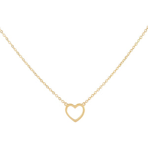 14K Gold Open Heart Necklace 14K - Adina's Jewels