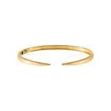 14K Gold Solid Claw Bangle 14K - Adina's Jewels