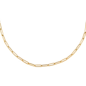 "14K Gold / 14"" Medium Paperclip Necklace 14K - Adina's Jewels"