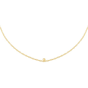Gold / A Mini Lowercase Initial Choker - Adina's Jewels