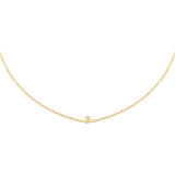Gold / A Tiny Solid Lowercase Initial Choker - Adina's Jewels