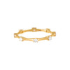 Diamond Bamboo Ring 14K - Adina's Jewels