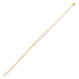 14K Gold Diamond Paperclip Bracelet 14K - Adina's Jewels