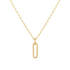 14K Gold Paperclip Link Baby Gucci Necklace 14K - Adina's Jewels
