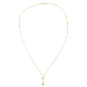 Paperclip Link Baby Gucci Necklace 14K - Adina's Jewels