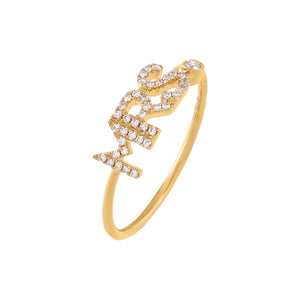 14K Gold / 6.5 Diamond Mrs. Ring 14K - Adina's Jewels