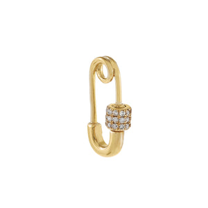 14K Gold Diamond Safety Pin Toggle Charm 14K - Adina's Jewels