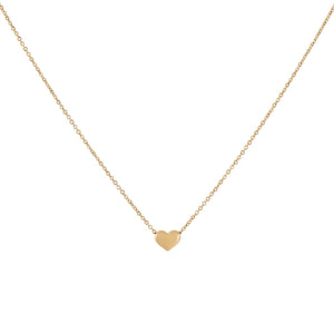 14K Gold Hollow Heart Necklace 14K - Adina's Jewels