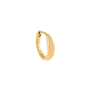 Hollow Dome Huggie Earring 14K