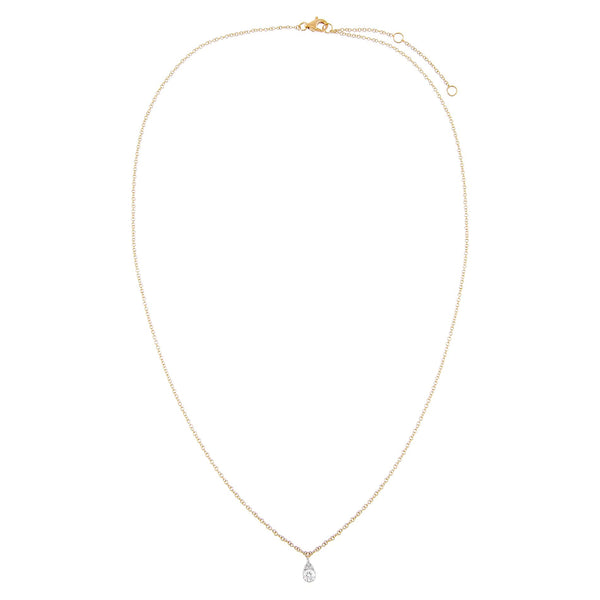 Diamond Illusion Teardrop Necklace 14K - Adina's Jewels