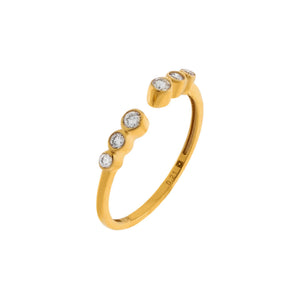 14K Gold / 6.5 Diamond Bezel Ring 14K - Adina's Jewels