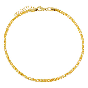 Gold Franco Chain Anklet - Adina's Jewels