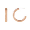 14K Rose Gold / 25 MM Thin Hollow Hoop Earring 14K - Adina's Jewels