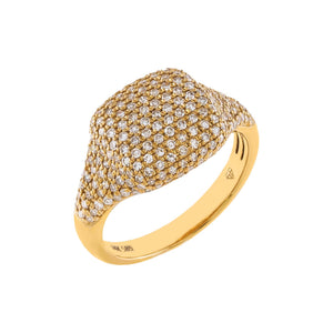 Diamond Signet Pinky Ring 14K