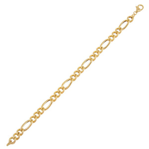 14K Gold Hollow Figaro Bracelet 14K - Adina's Jewels