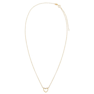 Open Heart Necklace 14K - Adina's Jewels