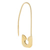 Thin Safety Pin Earring 14K 14K Gold / Single - Adina's Jewels