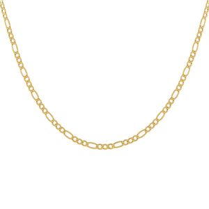 "14K Gold / 14"" Figaro Necklace 14K - Adina's Jewels"