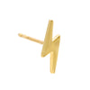 14K Gold / Single Solid Lightning Stud Earring 14K - Adina's Jewels