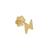 14K Gold / Single Mini Lightning Threaded Earring 14K - Adina's Jewels