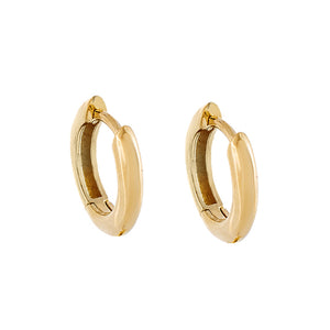 Mini Thick Huggie Earring 14K 14K Gold - Adina's Jewels