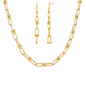 14K Gold The U Chain Holiday Gift Combo Set 14K - Adina's Jewels