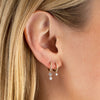 Double Floating Diamond Huggie Earring 14K - Adina's Jewels