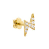14K Gold / Single Lightning Bolt Threaded Stud Earring 14K - Adina's Jewels