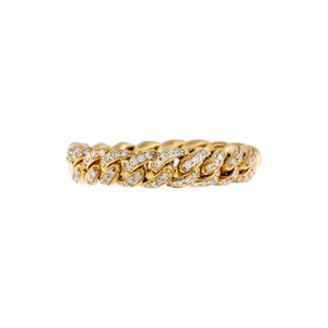 Diamond Chunky Cuban Chain Ring 14K - Adina's Jewels