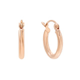 14K Rose Gold / 12 MM Thin Hoop Earring 14K - Adina's Jewels